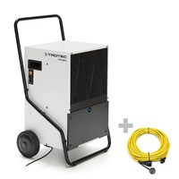TTK 650 S Commercial Dehumidifier + Pro Extension Cable 20 m / 230 V / 2.5 mm²