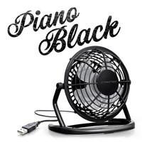 Ventilador color Piano Black USB TVE 1D