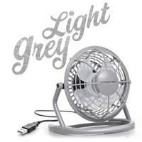 Ventilateur de table USB gris clair TVE 1G