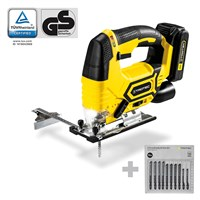 Seghetto alternativo a batteria PJSS 10-20V + Set di lame per legno (10 pz.)