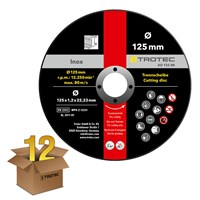 INOX metal cutting disc AD 125 MI in a special offer pack of 12