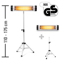 Infrared Radiant Heater IR 2550 S including IR Telescopic Tripod