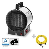 TDS 10 M Ceramic Fan Heater + Pro extension cable 20 m / 230 V / 2.5 mm²