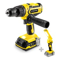 Li-Ion Hammer Drill PHDS 11-20V + Battery Work Light PWLS 10-20V