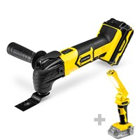 Cordless Multi-Function Tool PMTS 10-20V + Battery Work Light PWLS 10 (without battery)