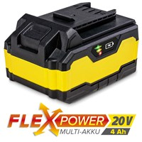 Batterie de rechange Flexpower 20 V 4,0 Ah