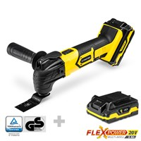 Cordless Multi-Function Tool PMTS 10-20V + Additional Battery Flexpower 20V 2,0 Ah