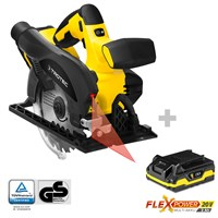 Cordless Hand Circular Saw PCSS 10-20V + Additional Battery Flexpower 20V 2,0 Ah