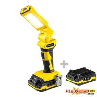 Battery Work Light PWLS 10-20V + Additional Battery Flexpower 20V 2,0 Ah