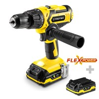 Li-Ion Hammer Drill PHDS 10-20V incl. Additional Battery Flexpower 20V 2.0 Ah