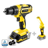 Li-Ion Cordless Drill PSCS 11-20V + Battery Work Light PWLS 10 (without battery)