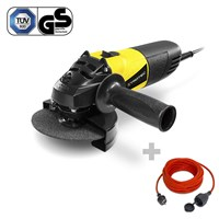 Angle Grinder PAGS 10-115 + Quality Extension Cable 15 m / 230 V / 1.5 mm²