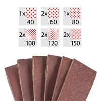 Belt sandpaper 10 piece set