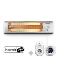 Infrared Radiant Heater IR 1200 S + Wireless Thermostat with Timer Switch BN35