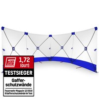 Safety Screen, 4*180*180 white/blue