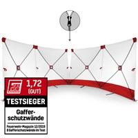 VarioScreen privacy screen 4*180*180 centrally separable Red