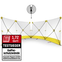 VarioScreen privacy screen 4*180*180 divisible in the middle Yellow