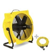 TTV 4500 Industrial Floor Fan + Professional Extension Cable 20m / 230 V / 2,5mm²