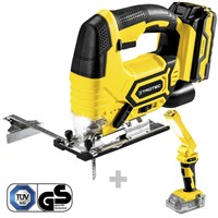 Cordless Jigsaw PJSS 11-20V + Battery work light PWLS 10 (without battery)