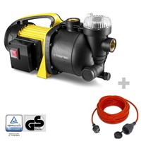 Garden pump with filter TGP 1005 E + Quality 2-pin extension cable 15 m / 230 V / 1.5 mm²